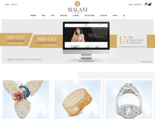 malanijewelers.com screenshot