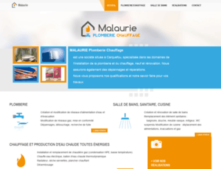 malaurie-plomberie-chauffage.fr screenshot
