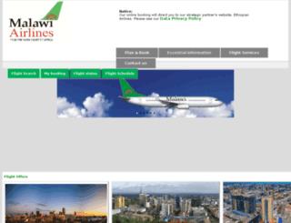 malawian-airlines.com screenshot