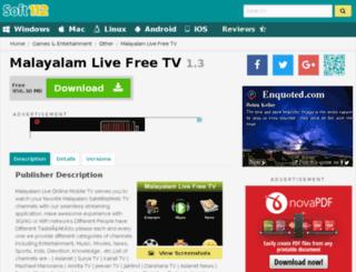 malayalam-live-free-tv.soft112.com screenshot