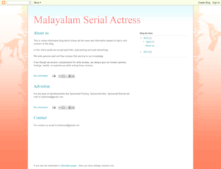 malayalam-serial-actress.blogspot.com screenshot