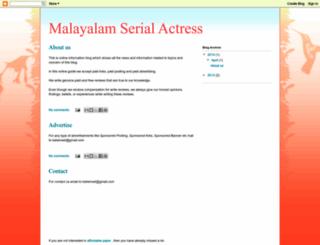 malayalam-serial-actress.blogspot.com screenshot