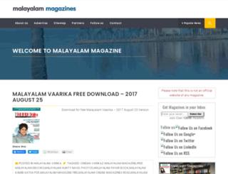 malayalammagazine.com screenshot