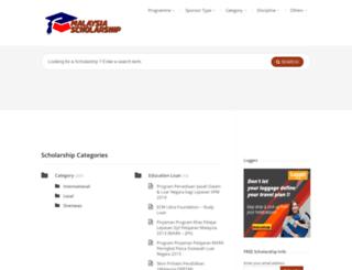 malaysia-scholarship.net screenshot