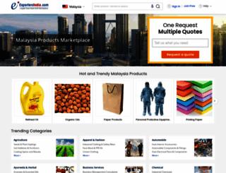 malaysia.exportersindia.com screenshot