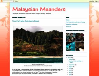 malaysianmeanders.blogspot.sg screenshot
