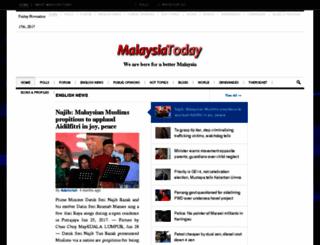 malaysiatoday.com screenshot