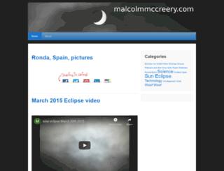 malcolmmccreery.com screenshot