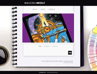 malcolmwolf.com screenshot