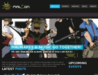 malcon.org screenshot