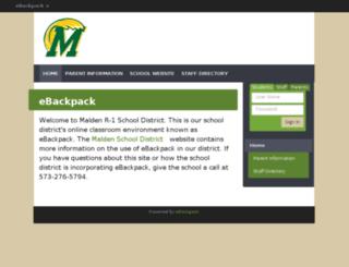 malden.ebackpack.com screenshot