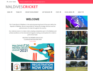 maldivescricket.org screenshot