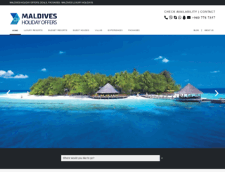 maldivesholidayoffers.com screenshot