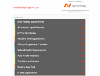 malefertilityblueprint.com screenshot