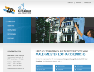 maler-und-lackierermeister-diedrichs.de screenshot