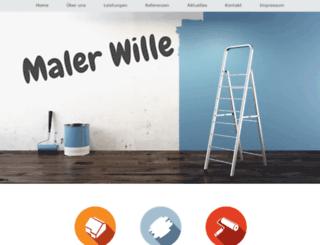 maler-wille.de screenshot