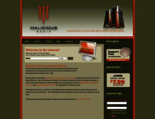 maliciousmedia.com screenshot