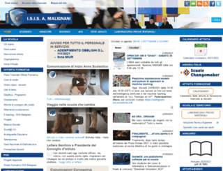 malignani.ud.it screenshot