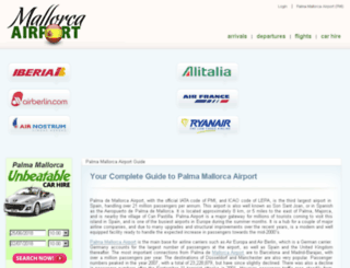 mallorcaairport.co.uk screenshot