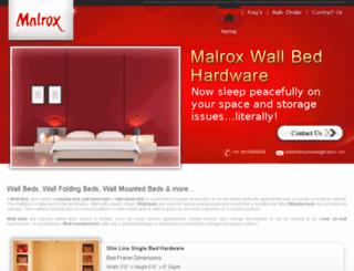 malroxwallbeds.com screenshot