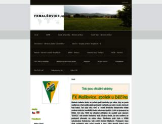 malsovicefotbal.estranky.cz screenshot