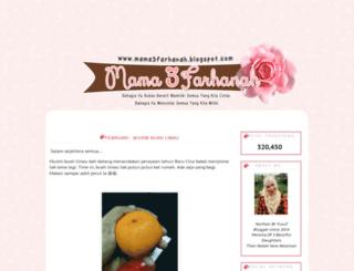 mama3farhanah.blogspot.com screenshot