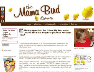 mamabirddiaries.com screenshot