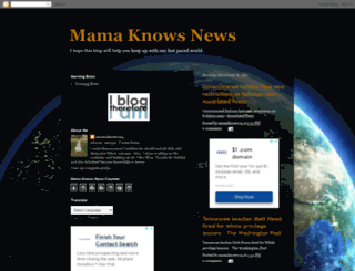 mamaknowsnews.blogspot.com screenshot