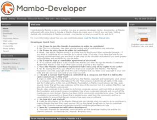 mambo-developer.org screenshot