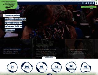 mamiraua.org.br screenshot