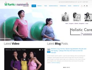 mammamia.fortishealthcare.com screenshot
