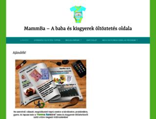 mammba.hu screenshot