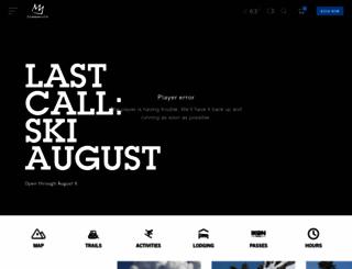 mammothmountain.com screenshot