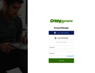 manage.crazydomains.co.nz screenshot