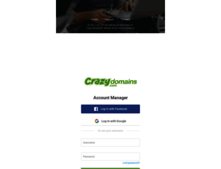manage.crazydomains.com screenshot