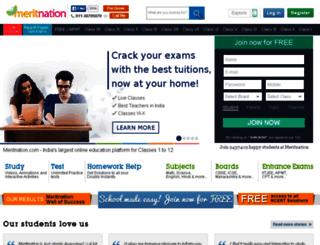 manage.meritnation.com screenshot