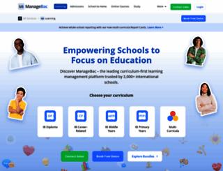 managebac.com screenshot