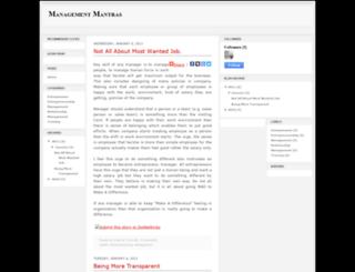 management-mantras.blogspot.com screenshot
