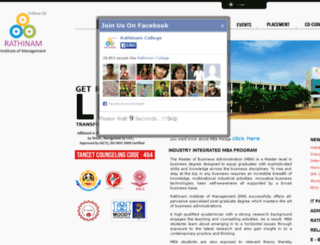 management.rathinamcollege.com screenshot