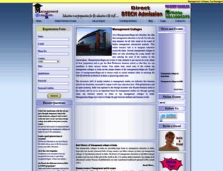 managementcolleges.net screenshot