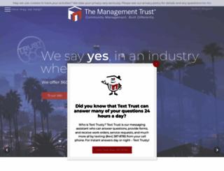 managementtrust.com screenshot