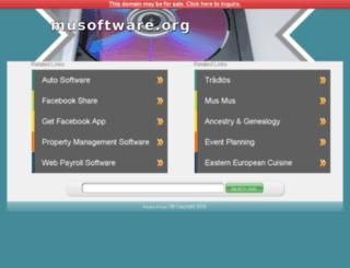 manager.musoftware.org screenshot