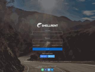 manager.shellrent.com screenshot