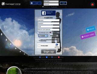 managerzone.com.br screenshot