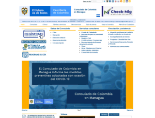 managua.consulado.gov.co screenshot
