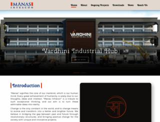 manasinfra.com screenshot