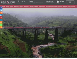 manasresort.in screenshot