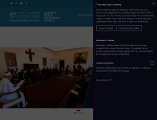 manchester.anglican.org screenshot