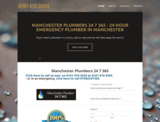 manchesterplumber247365.co.uk screenshot