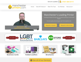 manchesterprinters.com screenshot